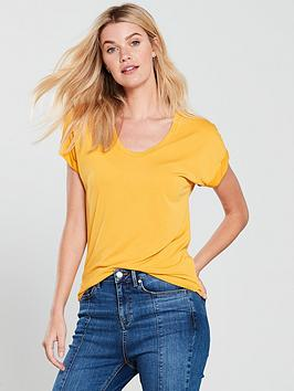 v-by-very-cupro-scoop-neck-tshirt