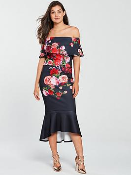 true-violet-bardot-floral-scuba-midi-dress-navyred