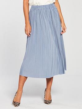 Samsoe & Samsoe Samsoe &Amp; Samsoe Uma Vevlet Pleated Midi Skirt