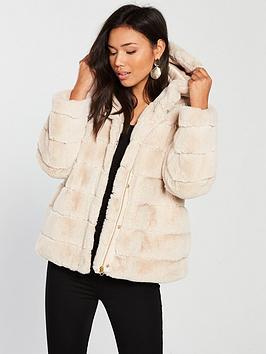 Samsoe & Samsoe Samsoe & Samsoe Saba Faux Fur Hooded Jacket