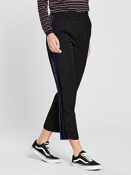 Maison Scotch Maison Scotch Velvet Side Tape Tailored Trousers