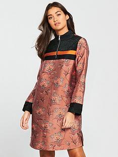 maison-scotch-maison-scotch-sporty-colour-block-printed-dress
