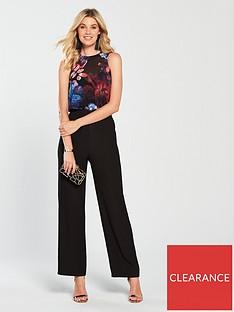 4c4112414d1 Little Mistress Floral Printed Jumpsuit - Black