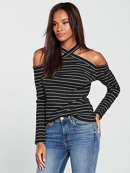 v-by-very-halter-neck-top-stripe