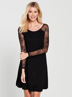 v-by-very-lace-sleeve-jersey-swing-dress