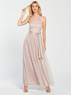 little-mistress-mesh-top-maxi-dress-grey