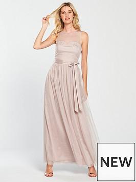 little-mistress-mesh-top-maxi-dress-grey