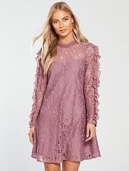 little-mistress-ruffle-sleeve-lace-shift-dress-canyon-rose