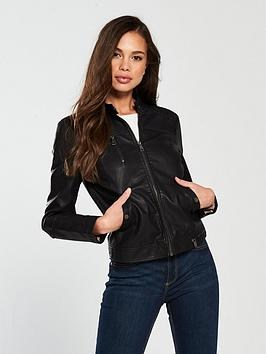 vero-moda-soffy-short-pu-jacket-black