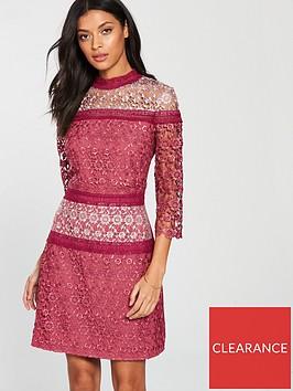 little-mistress-high-neck-crochet-shift-dress-berry