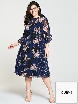 little-mistress-curve-floral-print-mesh-detail-midi-dress-navy