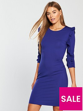 v-by-very-frill-sleeve-bodycon-dress-electric-blue
