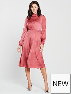 little-mistress-high-neck-sienna-satin-fit-and-flare-midi-dress-blush