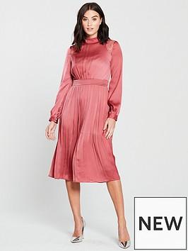 little-mistress-high-neck-sienna-satin-fit-and-flare-midi-dress-blush