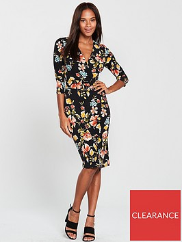 v-by-very-metal-ring-wrap-dress-floral-print