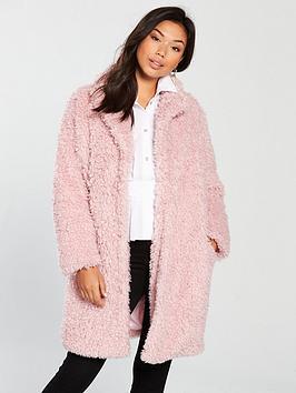 Samsoe & Samsoe Samsoe & Samsoe Senni Teddy Faux Fur Coat