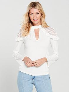 v-by-very-lace-shoulder-swing-top-ivory
