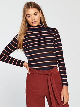 v-by-very-ribbed-polo-neck-top-stripe