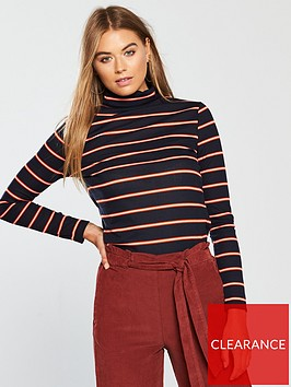 v-by-very-ribbed-polo-neck-top-stripe