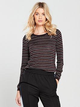 Maison Scotch Maison Scotch Lurex Stripe Fine Knit Crew Neck Jumper