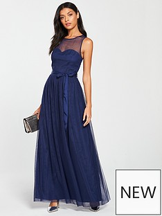 little-mistress-mesh-top-maxi-dress-navy