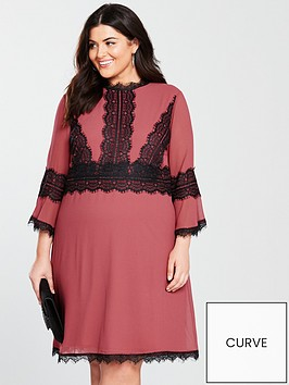 little-mistress-curve-little-misress-curve-fit-and-flare-lace-trim-skater-dress