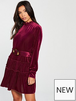 vero-moda-noon-long-sleeve-belted-mini-dress-rose