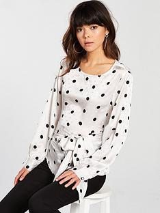 vero-moda-polkanbspdot-wrap-detail-blouse