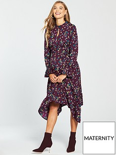 mama-licious-maternity-ditztynbspprinted-dress-with-fluted-sleeve