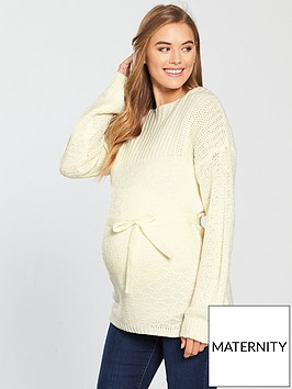 mama-licious-maternity-vibeke-knit-jumper-with-tie-detailing-white