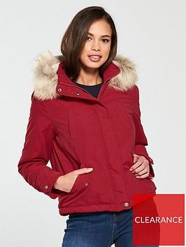 vero-moda-limit-short-parka-red