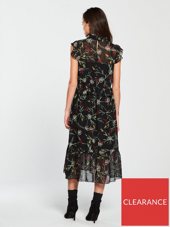 c8fbaa56912d ... Vero Moda Becca High Neck Floral Printed Sleeveless Dress - Black. View  larger