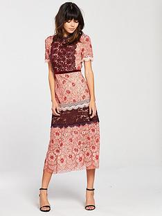 foxiedox-foxiedox-sadie-floral-midi-dress-pink-multi