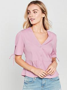 vero-moda-petite-button-front-blouse