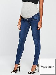 mama-licious-mamalicious-maternity-lola-slim-jeans-with-jersey-waistband