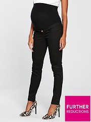 f9be86bce4468 Mama-Licious Maternity Julianne Skinny Jeans with Jersey Waistband - Black