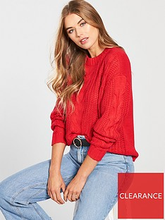 vero-moda-alpine-cable-knit-jumper-chinese-red