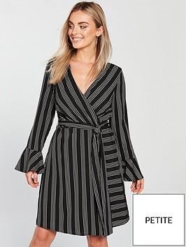 vero-moda-petite-nicky-long-sleeve-stripe-dress-blackwhite