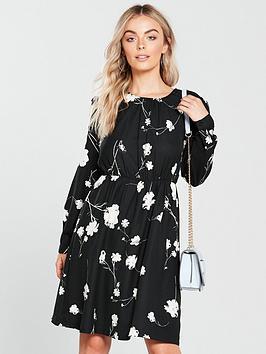 Vero Moda Petite Floral Print Dress - Black