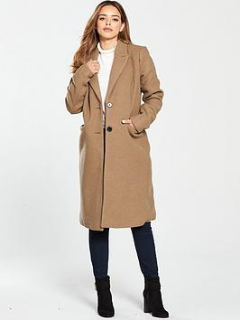 fd21e078a6247 Vero Moda Petite Long Tailored Coat - Camel