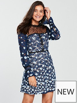 foxiedox-felicia-floral-long-sleeve-skater-dress-multi