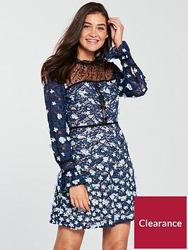 foxiedox-felicia-floral-long-sleeve-skater-dress-multi