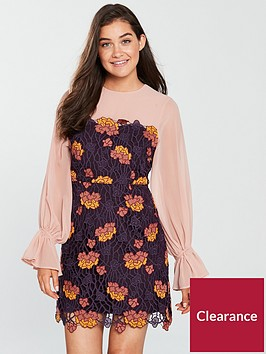 foxiedox-dolores-floral-mini-blouson-dress