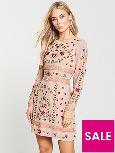 frock-and-frill-embellished-shift-dress-pink