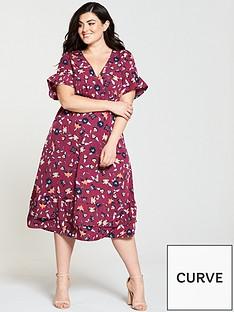 junarose-hivas-ruffle-sleeve-printed-midi-dress-rumba-red