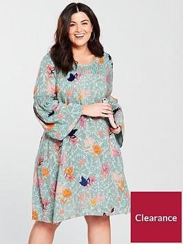 junarose-sikiranbspfluted-sleeve-dress-printednbsp