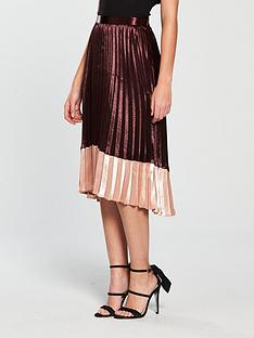 vero-moda-high-waisted-pleated-midi-skirt-winenbsp