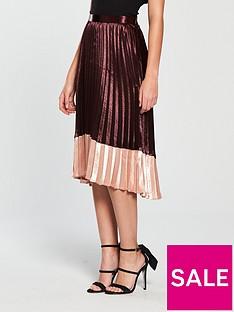 vero-moda-high-waisted-pleated-midi-skirt-winenbsp