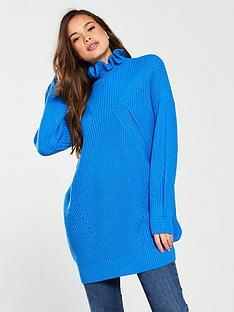 vero-moda-glendora-siska-long-sleeve-high-neck-oversized-jumper-french-blue