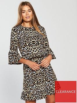 v-by-very-frill-waist-jersey-dress